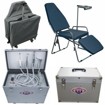 BEST BD402 Portable Dental Turbine Unit + Greeloy GU-P101 Folding Portable Dental Chair