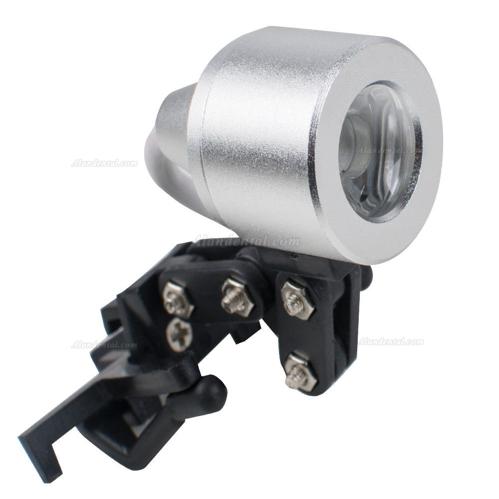 1W Clip Clamp LED Head Light Lamp for Dental Binocular Loupes Glasses Durable