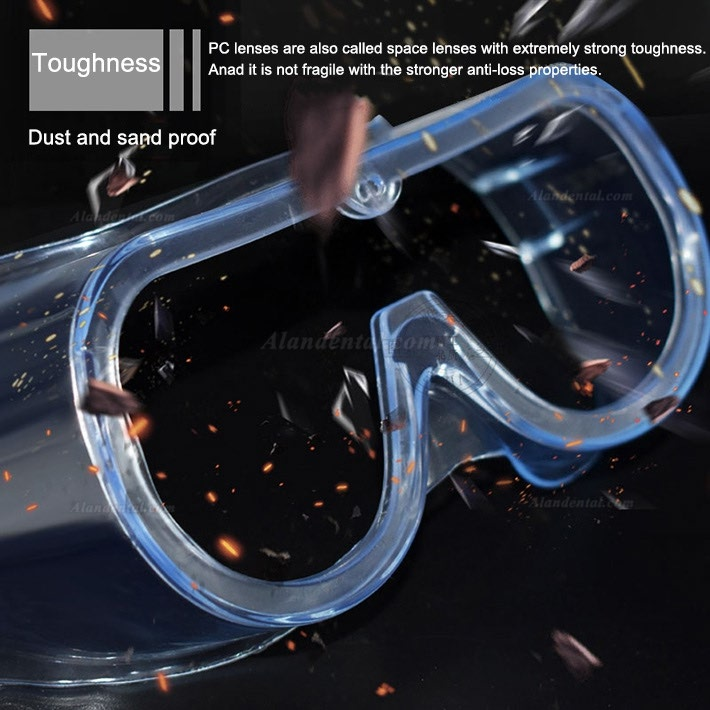 Medical Protective Goggles Splash Safety with Clear Anti Fog Lenses Block Flying Saliva and Dust