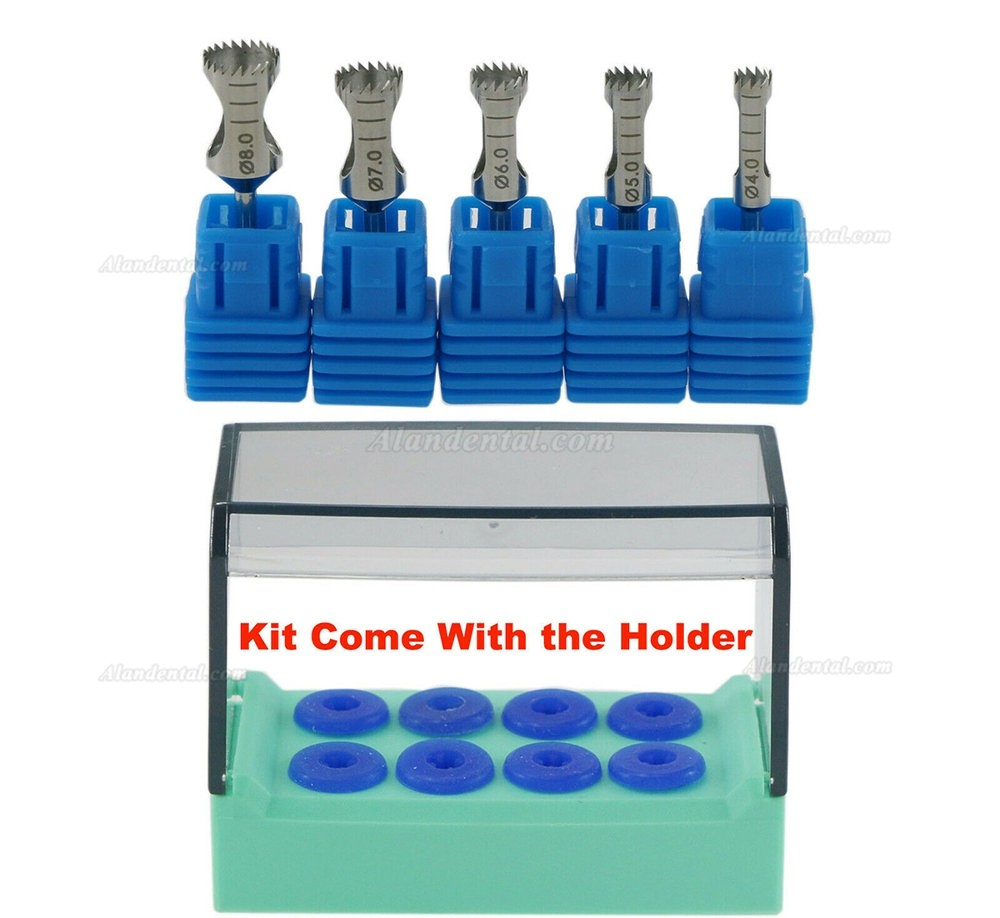5Pcs/Kit Trephine Dental Implant Surgery Bone Graft Drill Surgical Bur & Holder