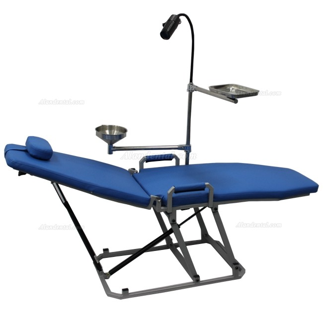 Greeloy GU-P 109 Dental Portable Chair Mobile 360° Folding Chair with LED Cold Light Lampe