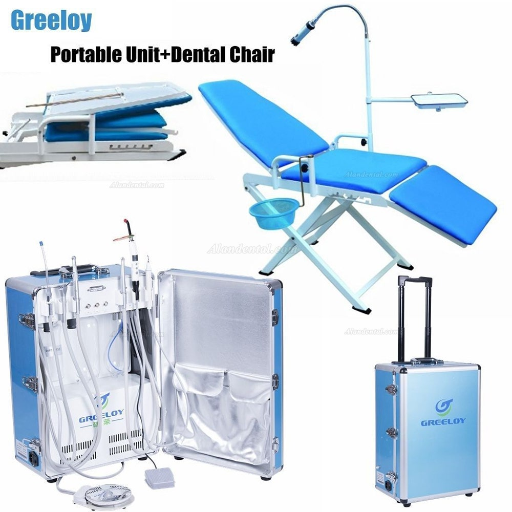 Greeloy GU-P206 Dental Portable Unit  + GU-109(A) Dental Chair  + Storage Bag Kit