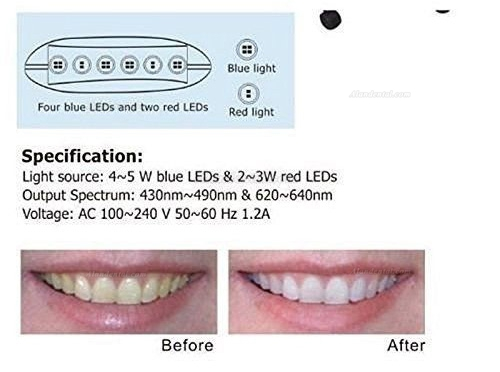 Magenta® Teeth Whitening Bleaching System LED Light MD669
