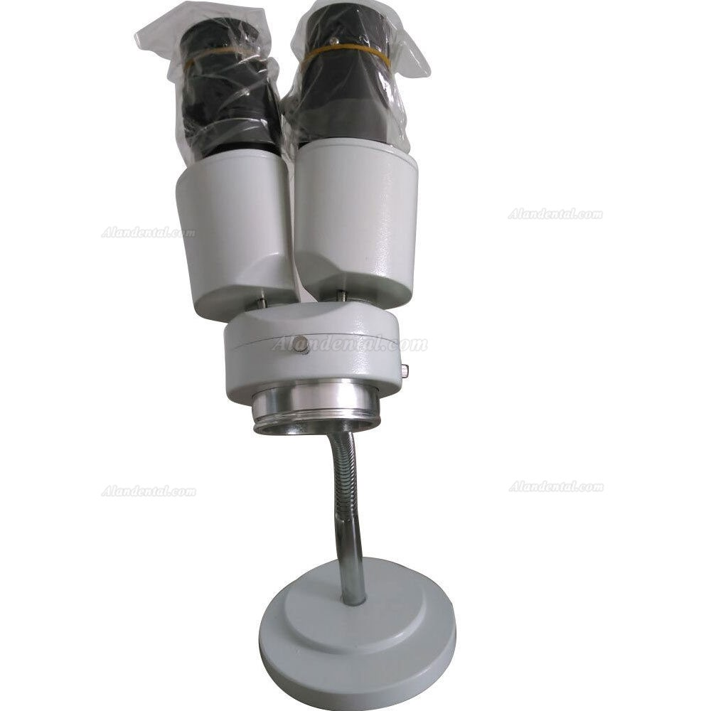 Specifications 1. Comprehensive magnification : 8X 2. Ocular : 10X 3. Objective magnification : 0.8X In instrument 4. Working distance : 88mm field Φ22mm 5. Binocular any tilt , lens barrel 360degree revolve. 6. Can mount LED ring tube on 7. Used for : Dental , false tooth factory , Laboratory , etc 8. SKU: MKE-M-JGXWJ   Content: 1 Set stereoscope 1 Pair ocular cover