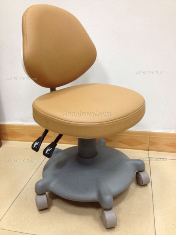 QY® QY600 Doctor Stool Adjustable Mobile Operatory Chair (Leather Type 20 Colors Optional)