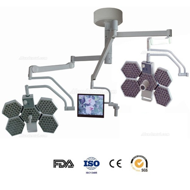 HFMED SY02-LED5+5-TV Medical Operating Theatre Light Shadowless Lamp Ceiling Mounted