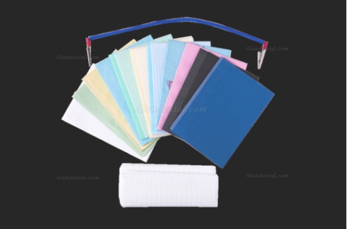 "500 PCS Avalon Papers 1053 Dental Bib Polyback Towel+2 Ply Tissue+ Poly 13""x18"""