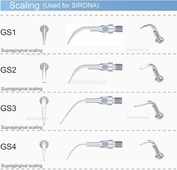 5PCS Woodpecker GS1 Dental Scaling Tip for Sirona Ultrasonic Scaler Handpiece
