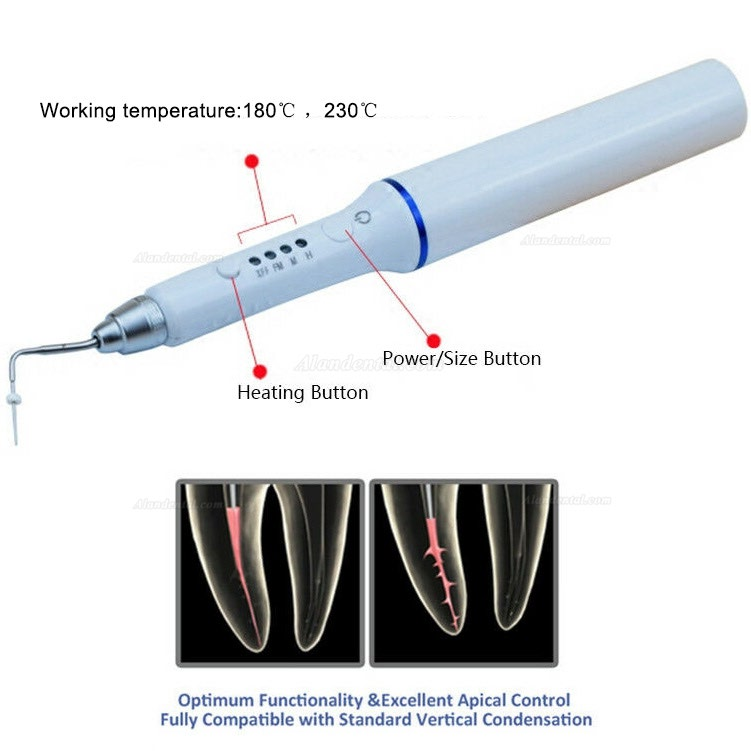 Wireless Dental Gutta Percha Obturation System Endo Heated Pen